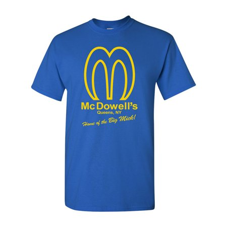 Halloween Parties In Queens Ny 2017 (McDowell's Restaurant Queens NY Funny Parody Adult DT T-Shirt)