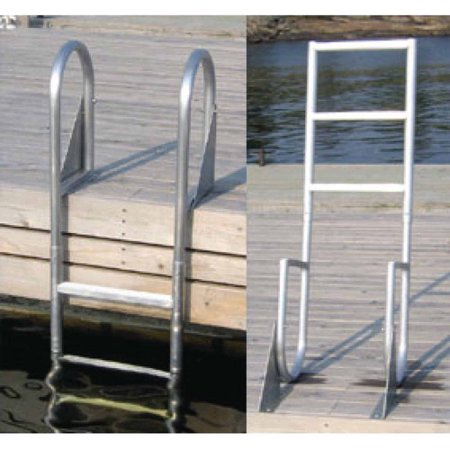 Aluminum 12 Volt Outdoor Step - Dock Edge Welded Aluminum Flip Up Dock Ladder