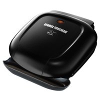 George Foreman 2-Serving Classic Plate Electric Indoor Grill and Panini Press, Black , GR0040B
