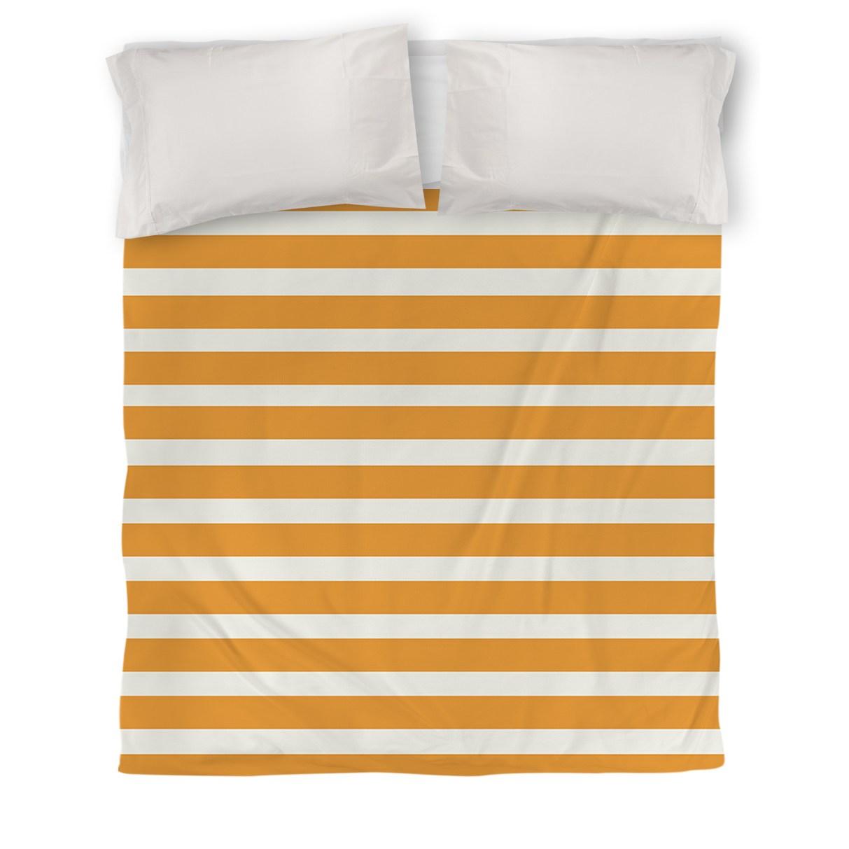 IDG Bright Stripes Duvet Cover, Orange