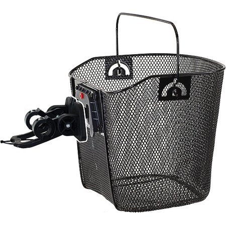 Wire Bike Basket with Clip-On Bracket