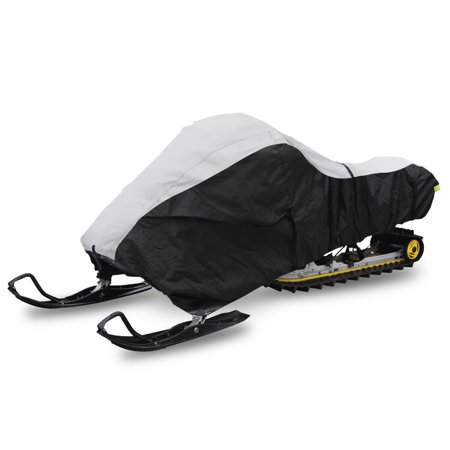 Pyle Heavy Duty Snowmobile Cover - Universal Design with Non-scratch Hood Liner, Elastic Cord & Waterproof Fabric for Safe Storage & Travel - Protects Against Moisture & UV Damage - PCVSNMEX16