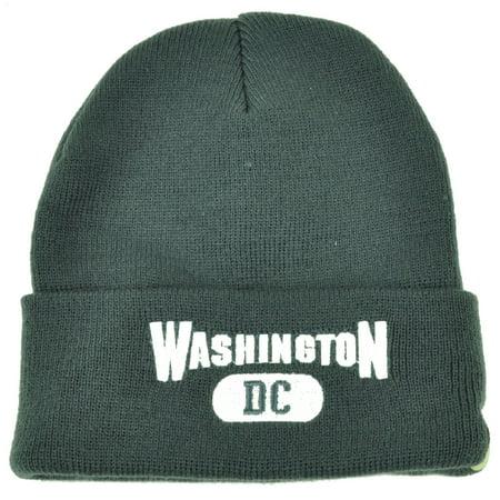 Washington DC Virginia Cuffed Gray White USA Capital Knit Beanie City Kirk (Stores In The Capital City Mall)