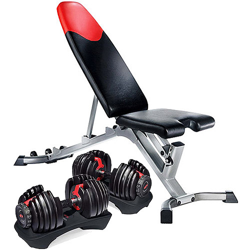 Bowflex SelectTech 552 Dumbbells and Bowflex 3.1 Weight Bench Value Bundle