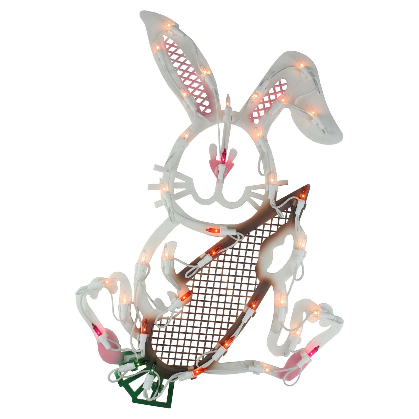 Northlight LED Easter Rabbit Window Silhouette