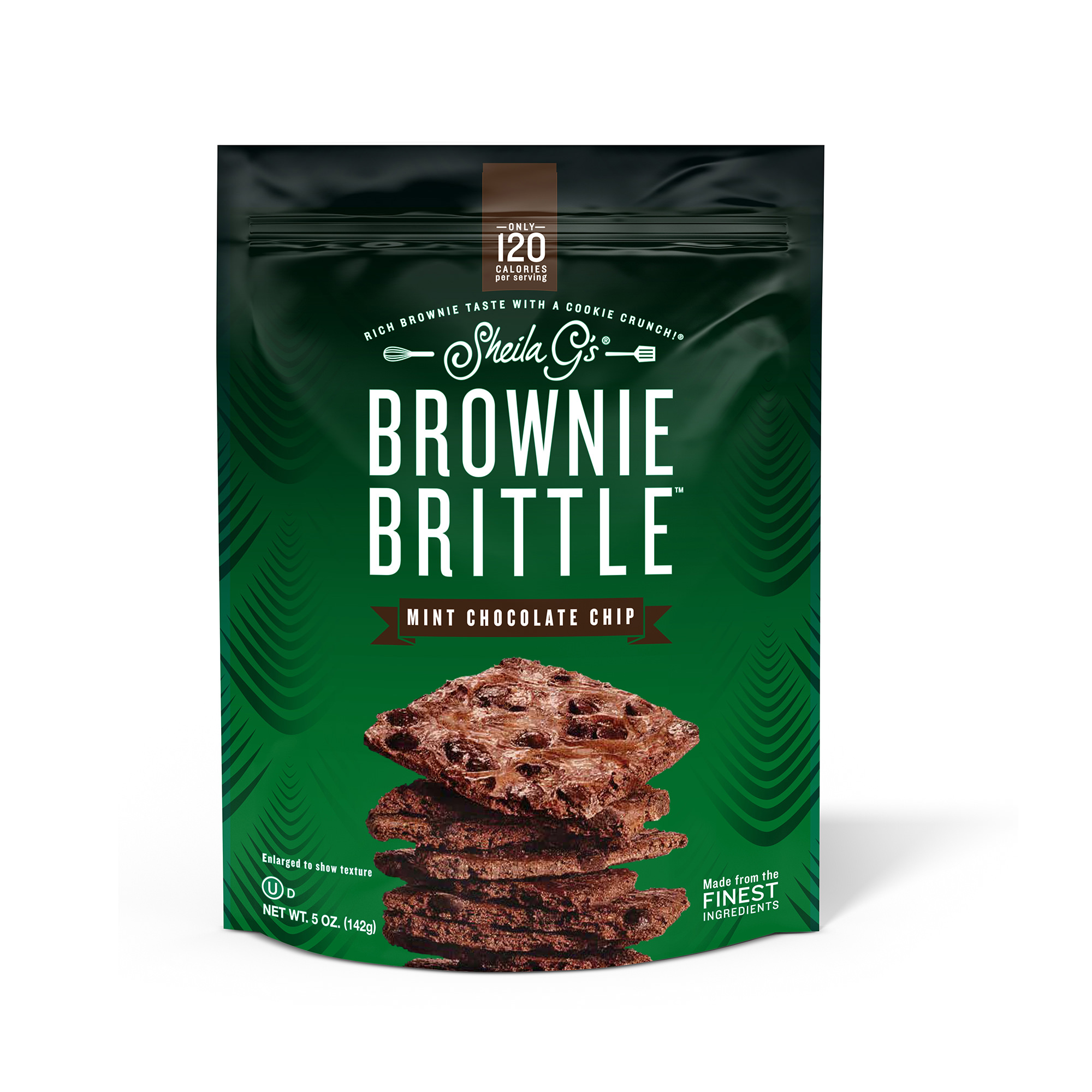 Sheila G's Brownie Brittle Mint Chocolate Chip Cookie Snack Thins, 5oz