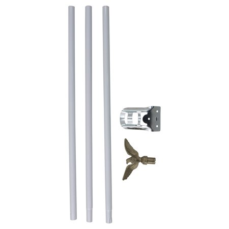 Residential Flagpole Set w/ 6' white (Polo Store Dallas)