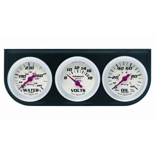 "Equus 2"" Volt Triple Gauge Kit, Chrome"