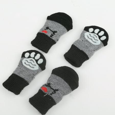 Homeholiday 4pcs Pet Socks Doggie Dog Cat Puppy Colorful Anti Slip Pet Product Supply - image 2 of 7