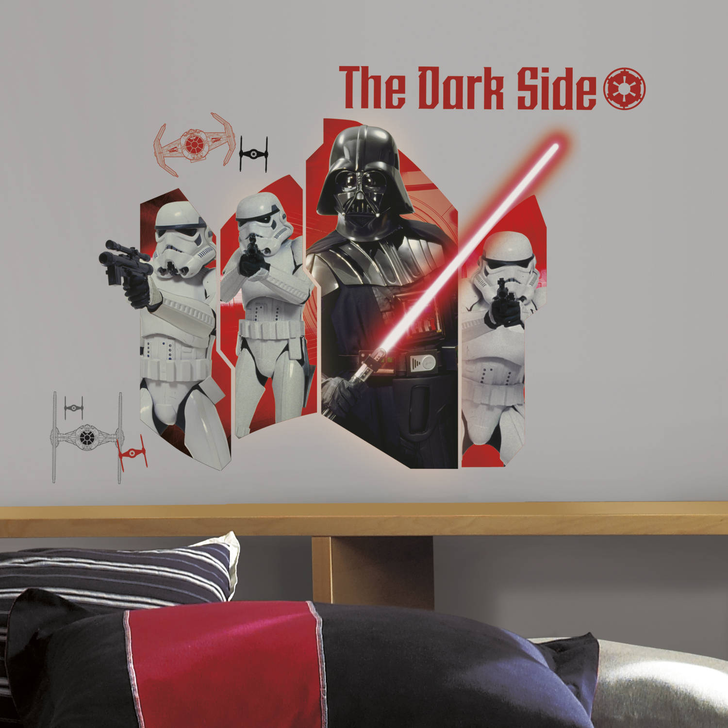 RoomMates Star Wars Classic Darth Vader & Stormtroopers Peel and Stick Wall Graphic