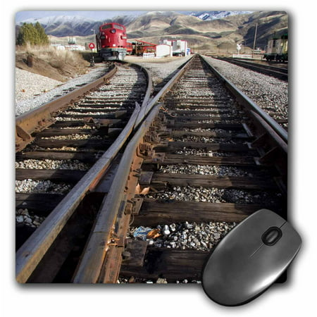 3dRose Northern and Pacific train, Horseshoe Bend Idaho - US13 DFR0532 - David R. Frazier, Mouse Pad, 8 by 8 inches