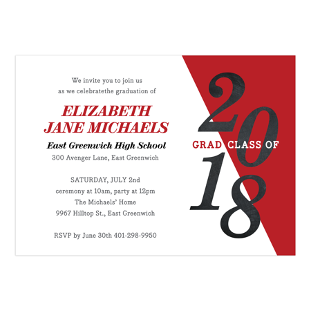 School Color Graduation Invitation](Train Invitations)
