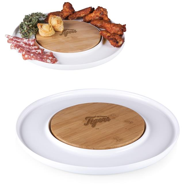Picnic Time 947-02-505-103-3 Detroit Tigers Island Cutting Board And Serving Tray - Bamboo - image 1 of 1