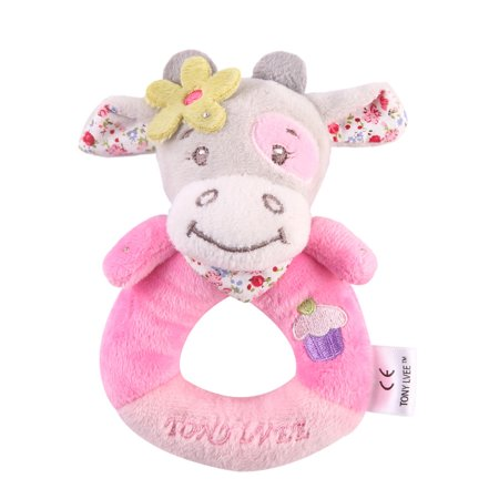 1PCS Infants Kids Animal Soft Plush Baby Hand Bells Educational Doll (Handy Plush)