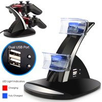 For Playstation 3 PS3 Dual Controller cha rger LED Charging Dock Station Stand