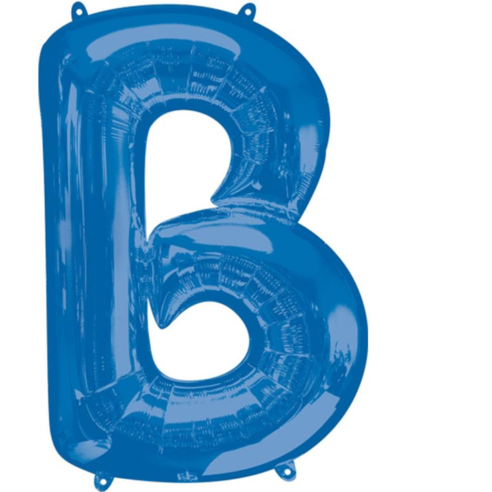 """Giant Blue Letter B Foil Balloon 34"""""""