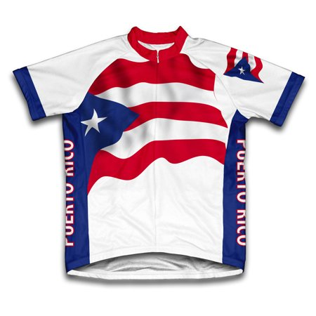 Puerto Rico Flag Short Sleeve Cycling Jersey  for Men - Size -