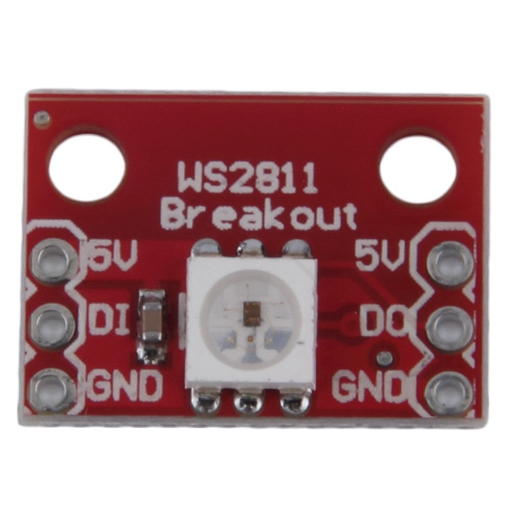 Light Weight Red Ws2812 Rgb 5050 Led Breakout Module 1712cm For Arduino Christmas Lights