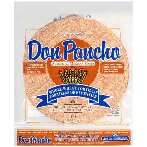 Don Pancho Whole Wheat Tortillas, 10 count
