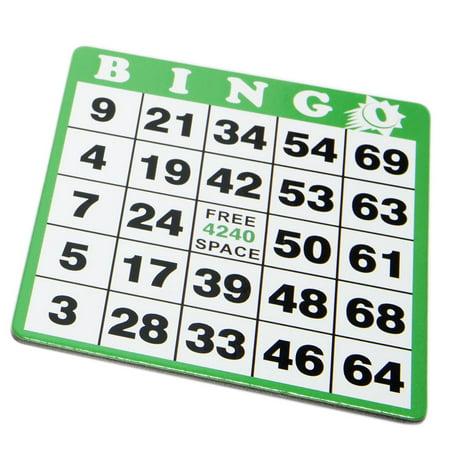 Halloween Bingo Cards For Preschool (Green Bingo Hard Card)