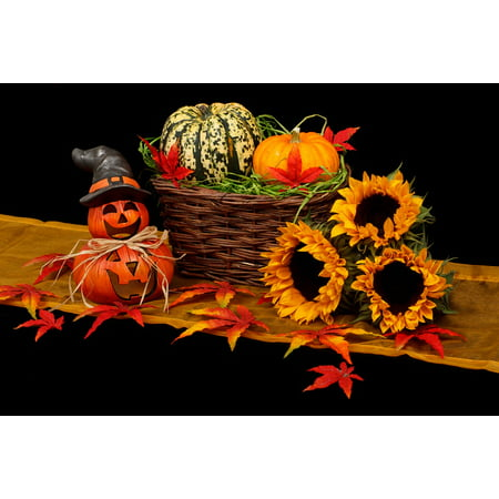 LAMINATED POSTER Dark Decoration Black Halloween Fall Autumn Poster Print 24 x 36 (Halloween Prints)
