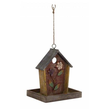Sleek Inspired Style Striking Styled Wood Metal Birdhouse Home Decor 76199