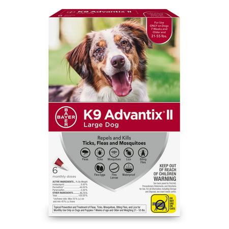 Advantix Dog Control Flea Treatment (K9 Advantix II Flea and Tick Treatment for Large Dogs, 6 Monthly)