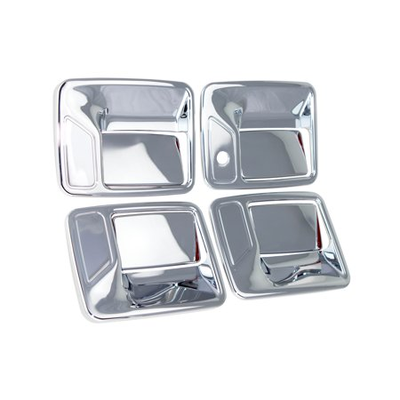 99-14 Ford F250/F350 Superduty / 00-05 Excursion Chrome Door Handle Cover 4D W/O Passenger  Keyhole 99 00 01 02 03 04 05 06 07 08 09 10 11 12 13 14 06 Chrome Door Handle Covers