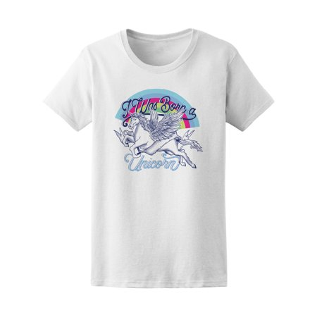 I Was Born A Unicorn Rainbow Pegasus Tee - Image by