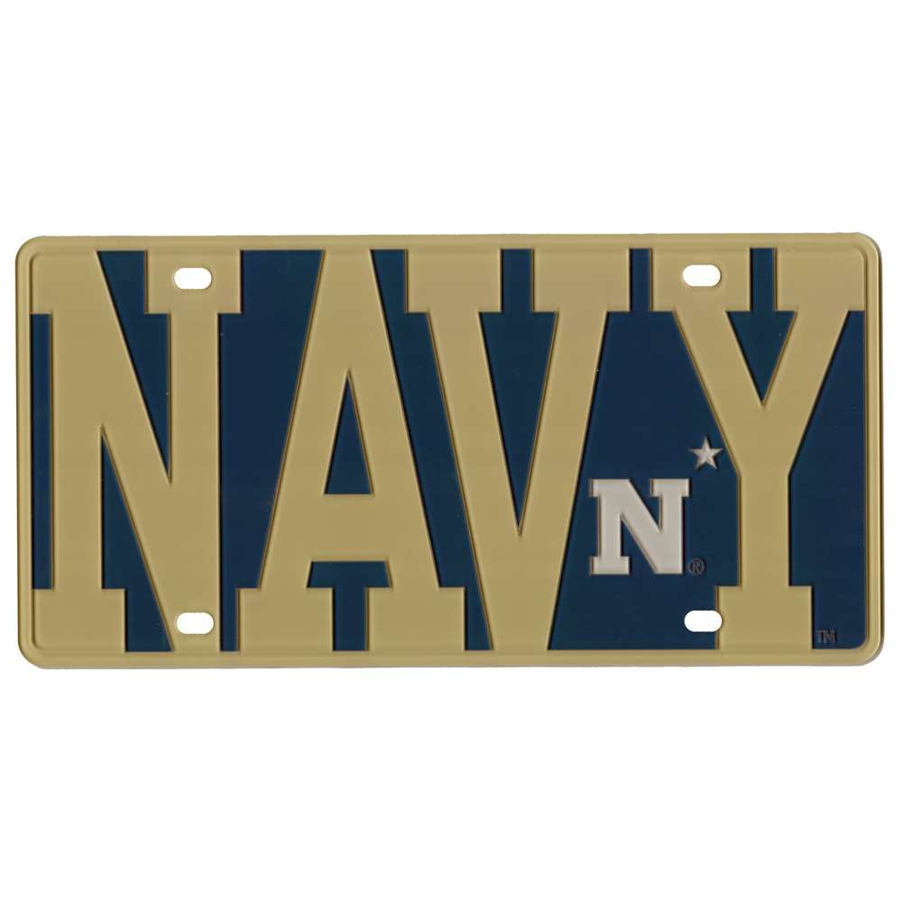 Navy Midshipmen Full Color Mega Inlay License Plate