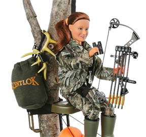 "Creative Outdoor 025 Hunter Ann Bow Hunter 8"" Figure w/Mathews Bow/Arrows 9793"