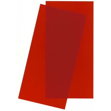 Evergreen Scale Models Red Transparent Sheet 6X12X.010 2 pc, EVG9901