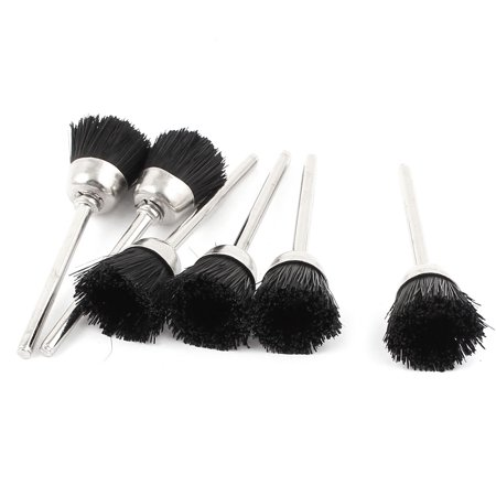 Nylon Replacement Wheels - Unique Bargains 6 Pcs Replacement Rotary Tool 15mm Dia Black Nylon Cup Brush Wheel Polisher