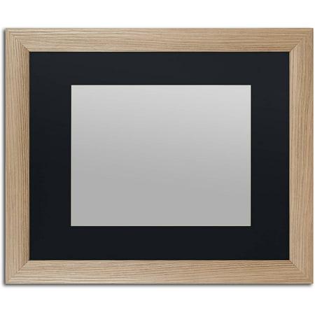 Trademark Fine Art Heavy-Duty 16x20 Birch Wood Picture Frame with 11x14 Black (Birch Finish Wall)
