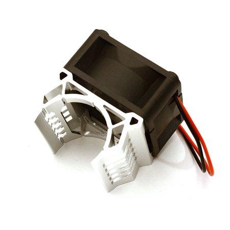 Integy RC Toy Model Hop-ups C28596SILVER Brushless Motor Heatsink+40x40mm Cooling Fan 17k rpm for 1/16 E-Revo & Slash VXL