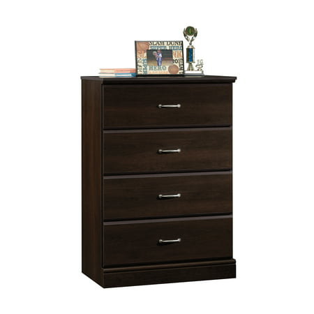 Rook Chess (Sauder Parklane Transitional 4-Drawer Chest, Espresso)