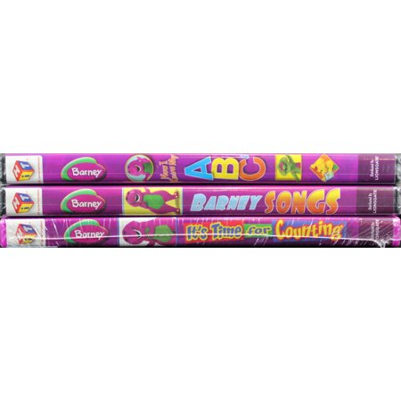 Barney 3 NEW DVDs Now I Know My ABC's, Barney Songs, and