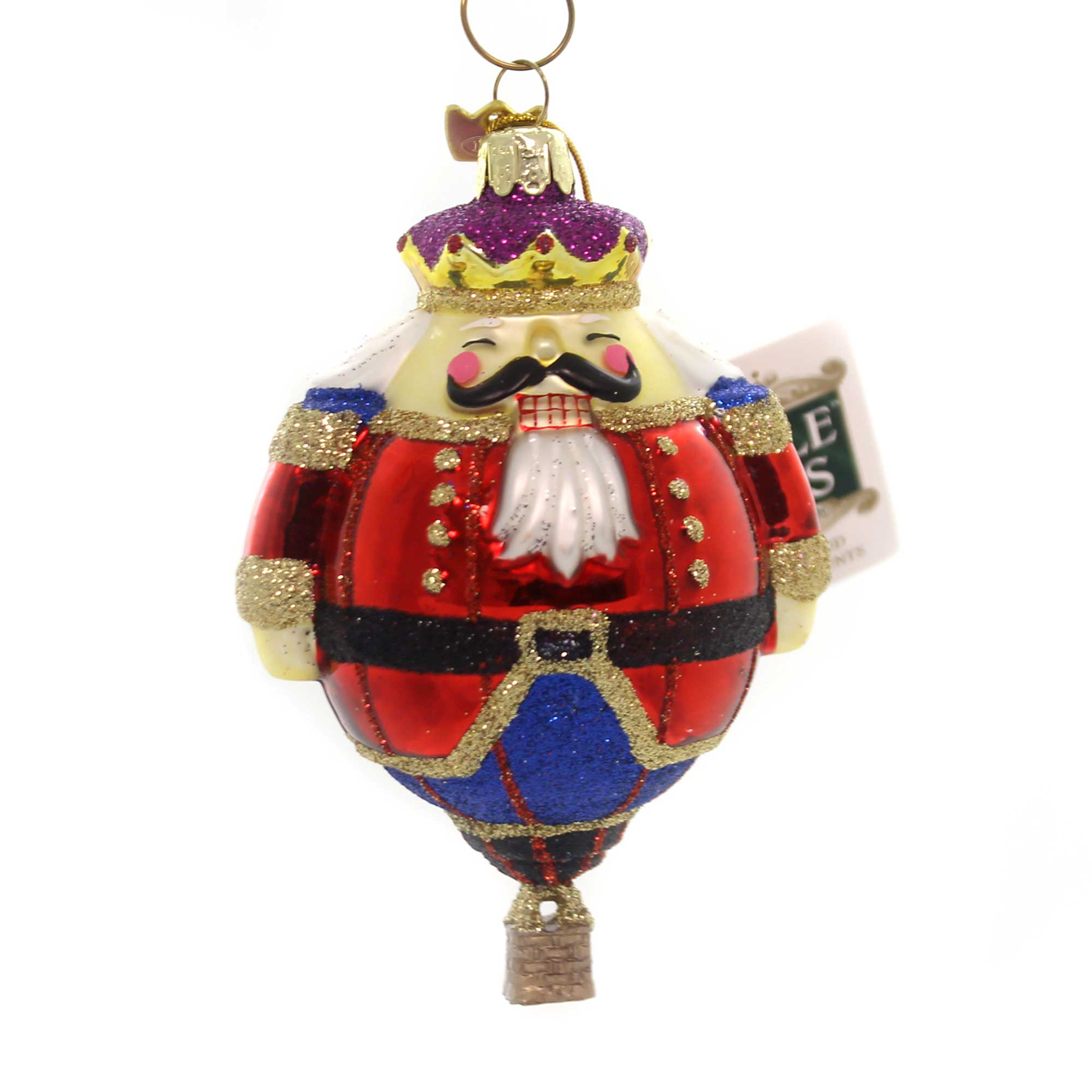 Noble Gems HOT AIR BALLOON ORNAMENT Glass Christmas Delivery