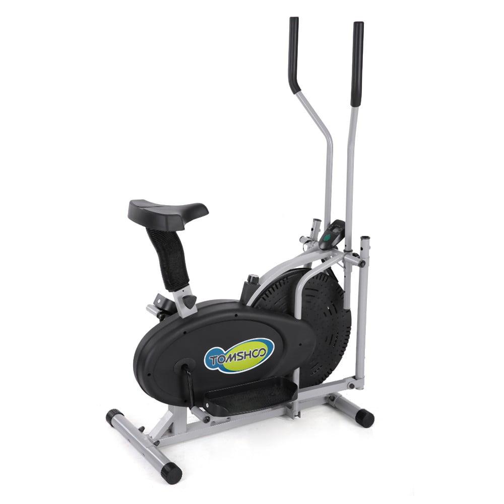 TOMSHOO 2 in 1 Cross Elliptical Exercise Bike Home Gym Wo...