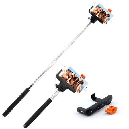 rocksteady wired selfie stick with wired control. Black Bedroom Furniture Sets. Home Design Ideas