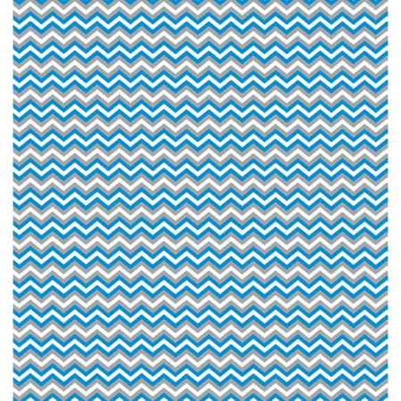 RTC Fabrics Chinatex Cotton Flannel Chevron Blue Fabric, per