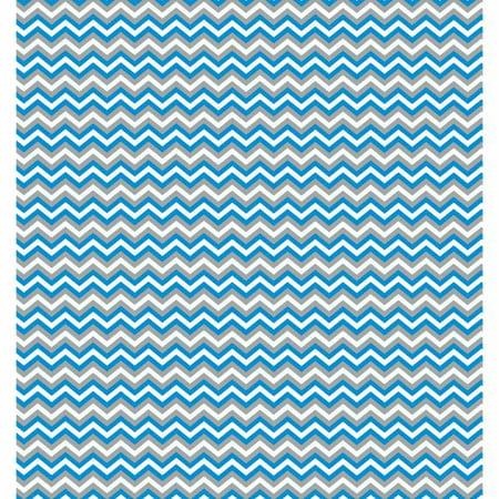 RTC Fabrics Chinatex Cotton Flannel Chevron Blue Fabric, per Yard