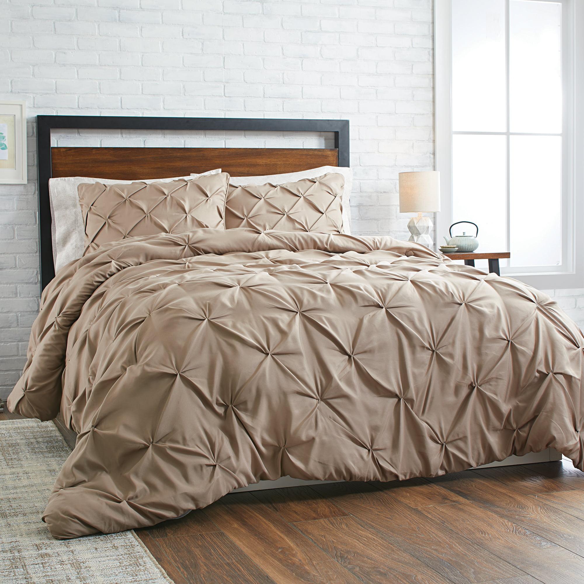 Tufted bedding queen 3 piece pintuck comforter set better - Better homes and gardens bedding ...