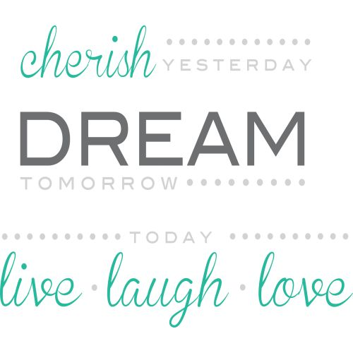 "Wall Pops ""Cherish Dream Live"" Wall Quote Decal"