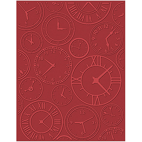 eBosser Embossing Folders Universal Size By Teresa Collins-About Time