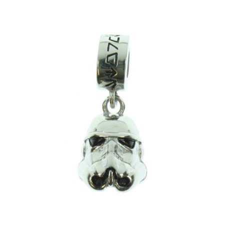 Star Wars Storm Trooper Stainless Steel Dangle Necklace Charm](Dangle Necklace)