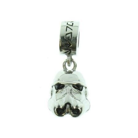 Star Wars Storm Trooper Stainless Steel Dangle Necklace - Stainless Steel Charm Necklace