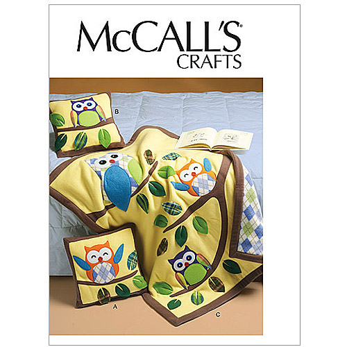 McCall's Pattern Pillows and Quilt, 1 Size Only