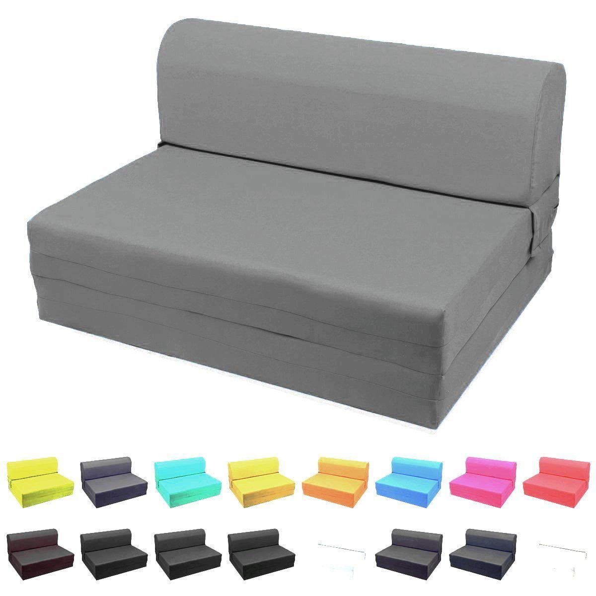 MaGshion Sleeper Chair Folding Foam Bed Sized Single Size 5x23x70 Inch Dark Gray