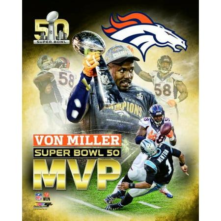 Von Miller Super Bowl 50 Mvp Portrait Plus Photo Print